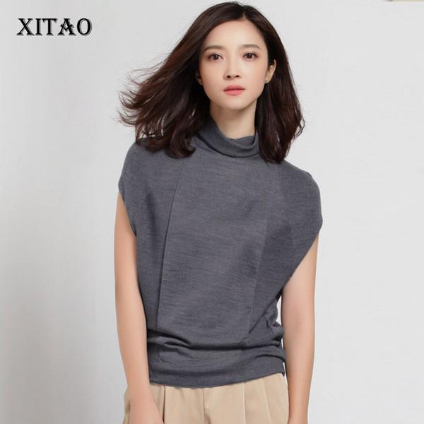 Compre Xitao 2017 Otoño Nuevas Mujeres Elegantes Sueltas 50 Lana