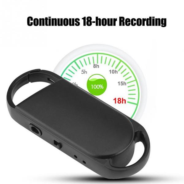 top popular 8GB USB Flash Driver Voice Recorder portable mini Keychain digital Audio Voice Recorder Dictaphone 192kbps WAV to WMA MP3 Mini Recorder 2020