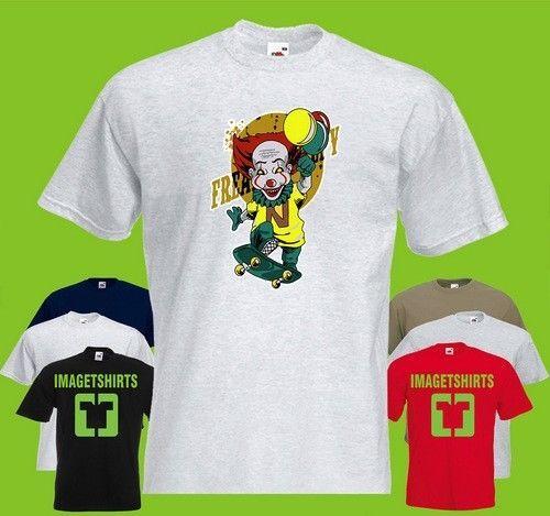 blown up clown bloons Art Cool Graphic T Shirt Tee Shirt Print