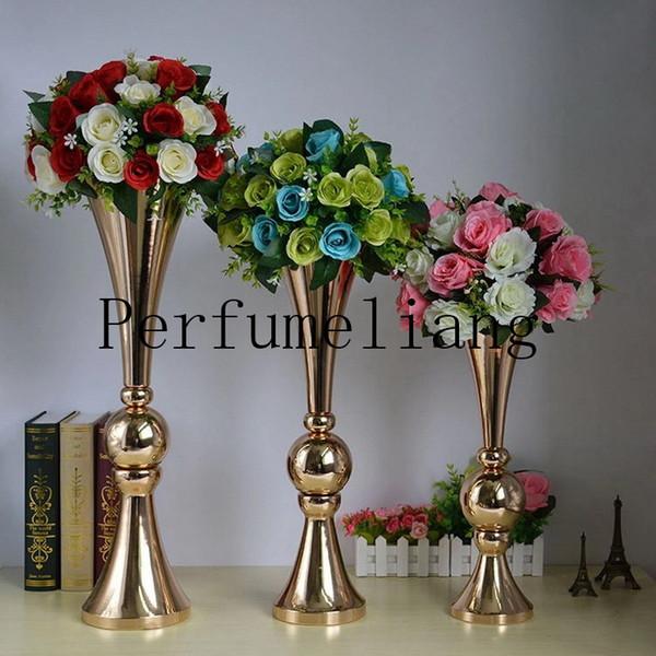 44 см 54 см 65 см золото серебро пол ваза для цветов Mariage таблица Центральным металл ваза для цветов стенды для дома свадебные украшения