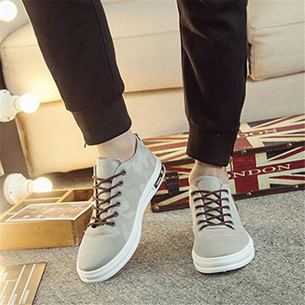 Herbst Sommer Komfortable Freizeitschuhe Herren Leinwand Camouflage Schuhe Für Männer Lace-Up Marke Mode Flache Müßiggänger Schuh