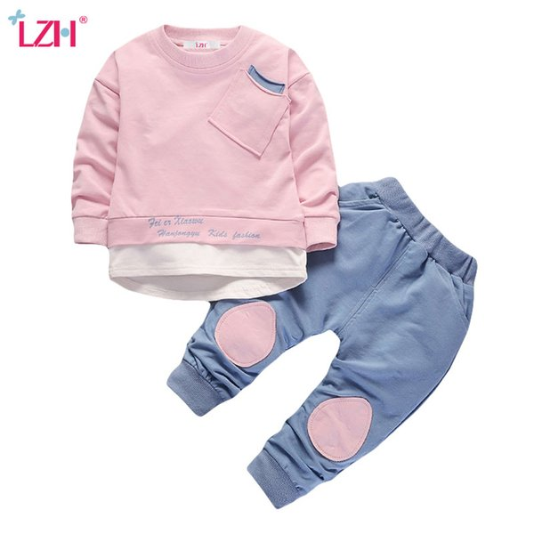 Children Clothing 2018 Autumn Winter Boys Clothes T-shirt+Pant 2pcs Christmas Outfits Kids Clothes Suit For Girls Clothing Sets