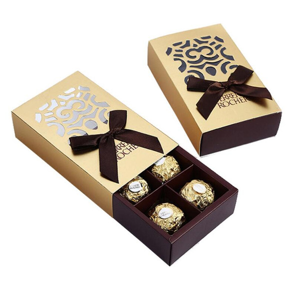 Ferrero Rocher Chocolate Candy Boxes Wedding Favors Sweet Gifts Bags Party Supplies Free Shipping LX3731