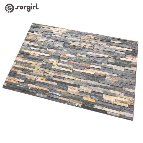 Simulação de tijolo ladrilhos capacho Porta da frente Tapete Tapete de Entrada Interior eco-friendly natural Não-slip Tapete Banheiro Tapete