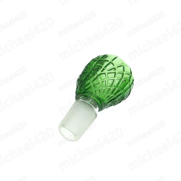 Glass bowl For Bongs With Screw Honeycomb Screen Round Male 18mm Joint Smoking Accessories For Bongs Water Pipes