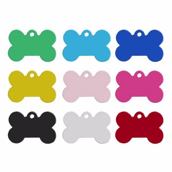 Renkli 38 MM Köpekler Etiket Kemik Şekil Tasarım Pet KIMLIK Kartı Alaşım Kedi Köpek Etiketler Evcil Malzemeleri Fabrika Doğrudan 045wg