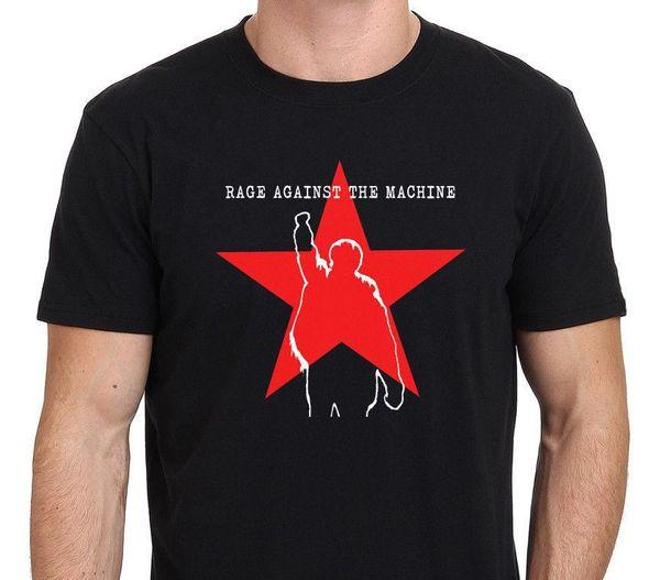 Raserei gegen die Maschine RATM Star Logo Männer Schwarz T-Shirt Größe S-3XL 2018 Neue Ankunft Männer T-shirt Neue Tendenz