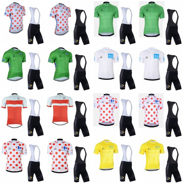 TOUR DE FRANCE team Cycling Short Sleeves jersey (bib) shorts sets Spring and summer bike Jersey suit for men's F0501
