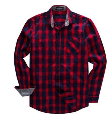 En'S Coon Long-Sleeved Shirt Plaid Shirt Male Social Shirts Chemise Homme Turn Down Collar Casual Tops Fredd Marshall K771