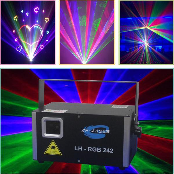 ILDA 45K Galvo MINI 2W RGB Vollfarb-Animations-Analog-Laserbeleuchtung für Weihnachts- und Urlaubsprojektorbeleuchtung