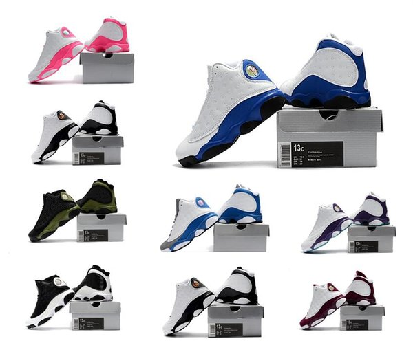 Hyper Royal XIII 13S Kids Basketball Shoes Italy Blue Olive Infant & Children toddler trainers boy girl PRESTO Huarache sneakers Black white