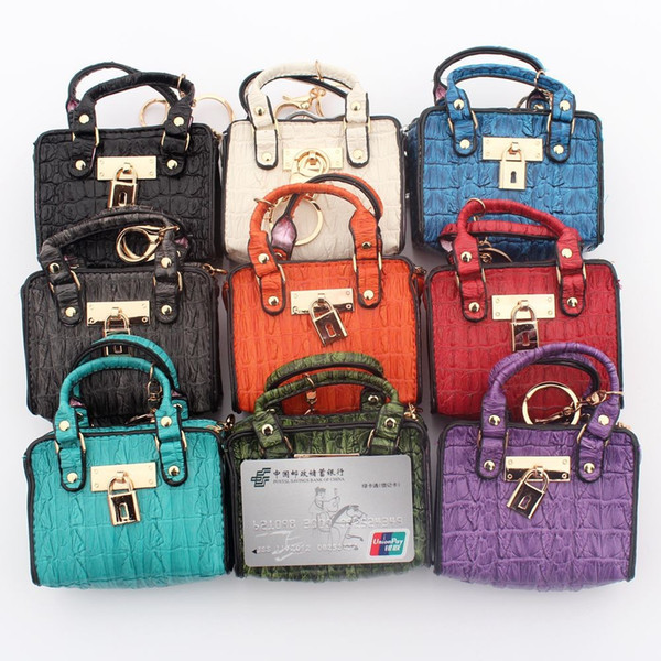 Leisure fashion women portable technology zero purse student wallet wallet imprint crocodile pattern skin key bag
