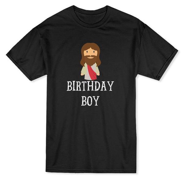 Aniversário Menino Jesus Gráfica de Natal T-shirt dos homens Camisas de Manga Curta Verão Novidade T Shirt Homens de Manga Curta