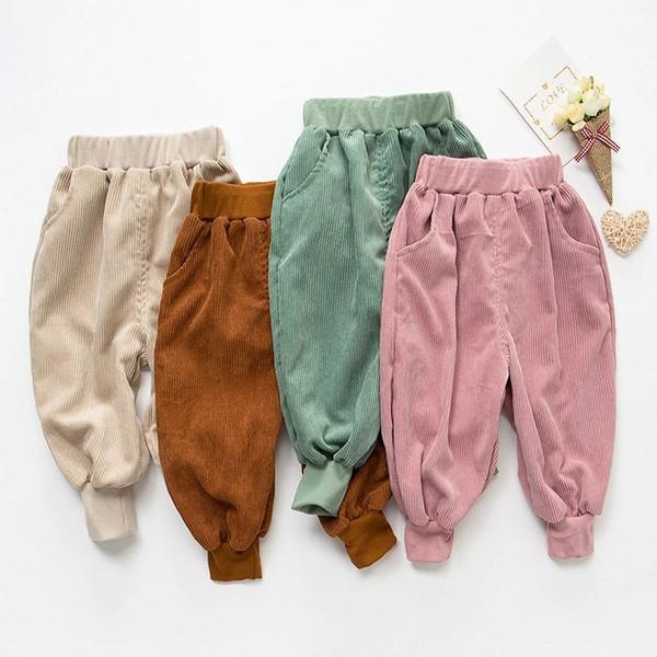 Nouvel Automne Hiver Bébé Filles Garçons Pantalon En Velours côtelé Enfants Sarouel Enfants Pantalon Décontracté 14280