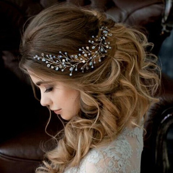 top popular Bridal Hair Ornaments Fashion Hairwear Wedding Hair Accessories Comb for Women Girl Headpiece Headdress Head Decoration Pin 2021