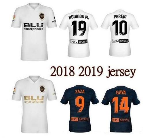 New 2018 2019 Valencia Soccer Jersey Camiseta equipacion del Valencia 18 19 Best 3A Quality Football Shirt Parejo Batshuayi Gameiro