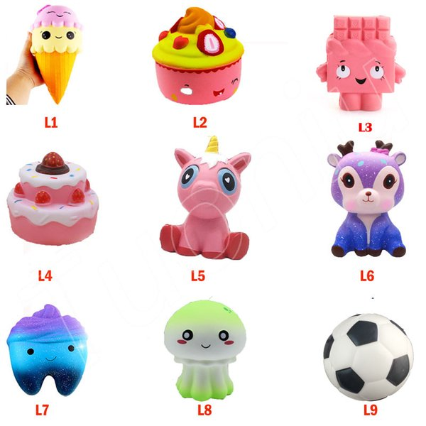 best selling Squishy Toy Strawberry Cake ice cream stars beer tooth dinosaur squishies Slow Rising Soft Squeeze Cute Strap gift Stress children toys