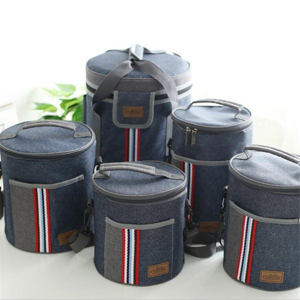 Borsa pranzo al sacco di tela termica portatile sacchetti pranzo al sacco di cibo per le donne uomini bambini Cooler Lunch Box Bag Tote