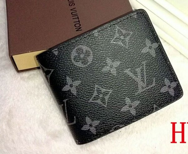 뜨거운 판매 패션 접는 편지 블랙 지갑 지갑 클래식 짧은 지갑 선물 남성 여성 블랙 지갑 가방