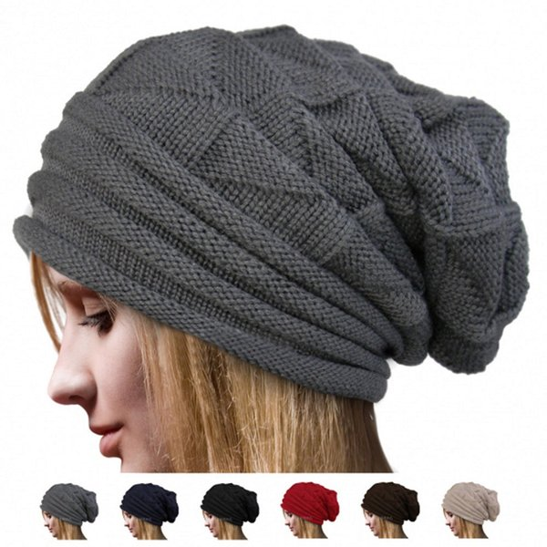 Feitong Hot Sale Women Winter Fluff Crochet Hat Wool Knit Beige Beanie Warm 1pc Female Casual Caps Autumn Navy Gorras