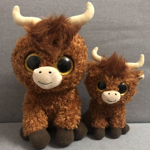 d1d8f366537 Ferdinand bull and sheep DOS CUATRO Lupe goat TY BEANIE Babies 1PC 18CM Plush  Toys Stuffed animals KIDS TOYS GIFT