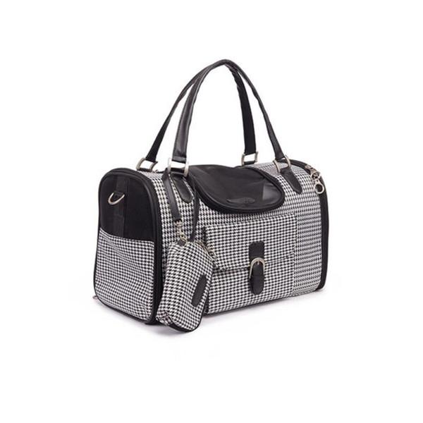 Hund der Haustierkatze kleiner Hund Spielraum-Luxux-PU-lederne tragende Tasche im Freien faltbarer tragbarer Hund Chihuahua-tragende Taschentasche mit Geldbeutel GRÖSSE 34 * 22 * 20CM