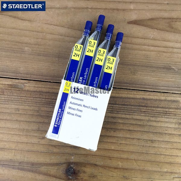 LifeMaster 12 tubes/lot Staedtler Mars Micro Carbon 250 03Mechanical Pencil Lead Refills 0.3mm 2H/HB/B Writing Supplies