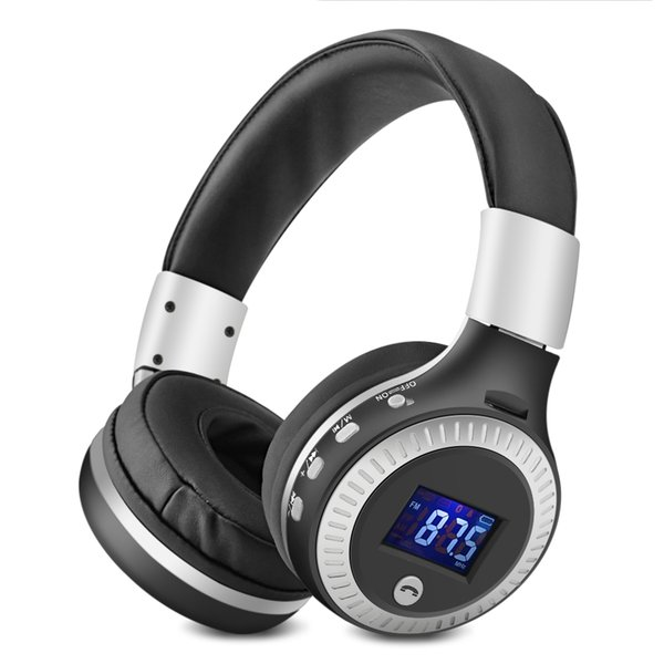 B19 Bluetooth Wireless Headphone HiFi Bass Stereo Headphones LCD Display Headset with FM Micro-SD TF Card Slot Phone