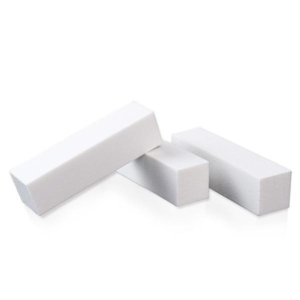 10pcs / lot formes blanches ongles outils d'art polissage fichiers de ponçage bloc pédicure soins de manucure tampon lime à ongles pour Nail Art outils bricolage