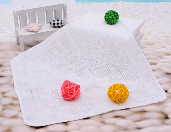 best selling White Small Square Towel 20x20cm Custom Gift Giveaway Cheap Towel Absorbent Hand Towel Hotel Cotton Napkin Handkerchief Kitchen Rag