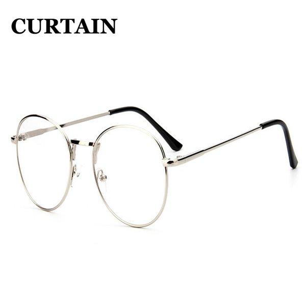 Compre Popular Elegante Metal Fino Marco Circular Gafas Gafas ...