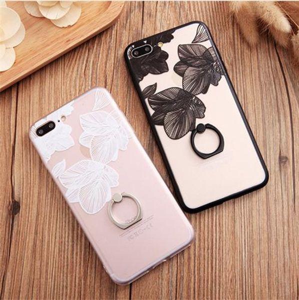 For iPhone 6 s Case for Coque iPhone 7 Plus 8 8P Luxury 6 Plus Female Mobile Phone Back Coque Cover Retro Flower Soft Cases