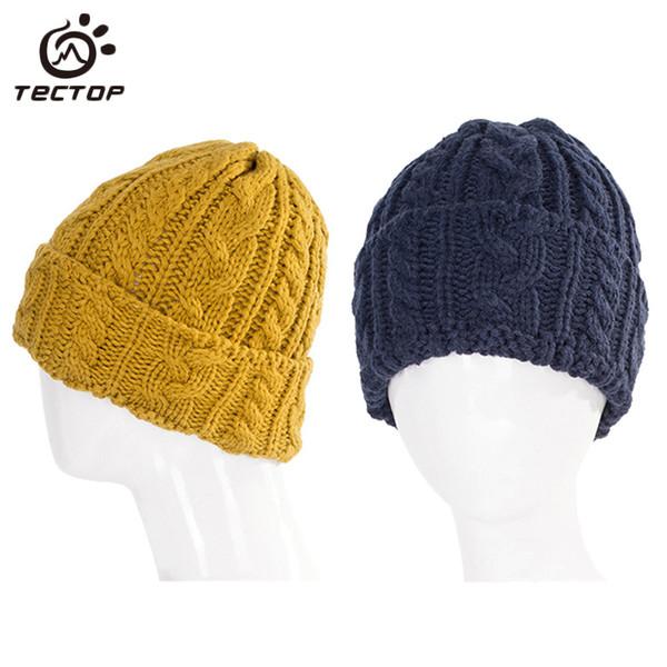 Tectop Unisex Winter Warm Outdoor Knitted Hat Women Men Travel Cycling Sport Cap Camping Hiking Trekking Ski Women's Hats AH004