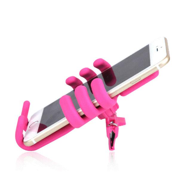 DREAMCAR Yumuşak Silikon Cep Telefonu Tutucu Hava Firar Telefon Tutucu Araba Aksesuarları Cep Telefonu Için Araç Tutucu GPS 3.5-5.5 Inç