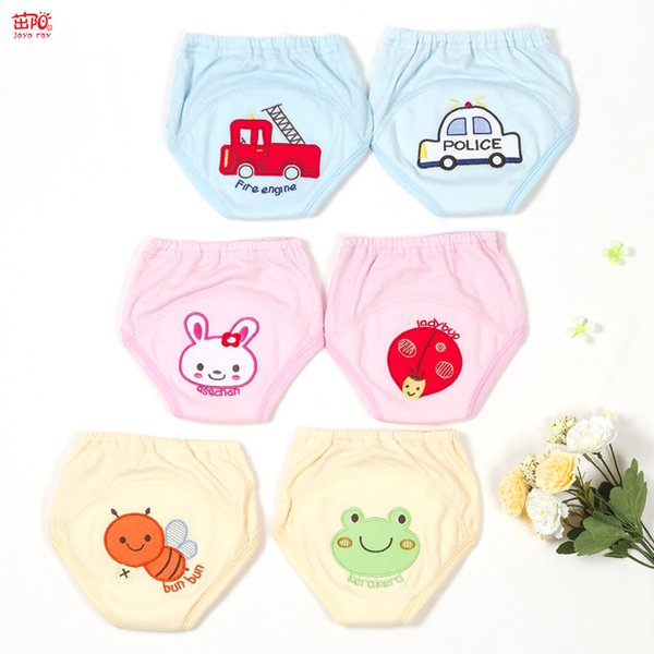 Baby diapers reusable cartoon embroidered children baby cotton washable wear pants underwear diaper baby learning pants training pants