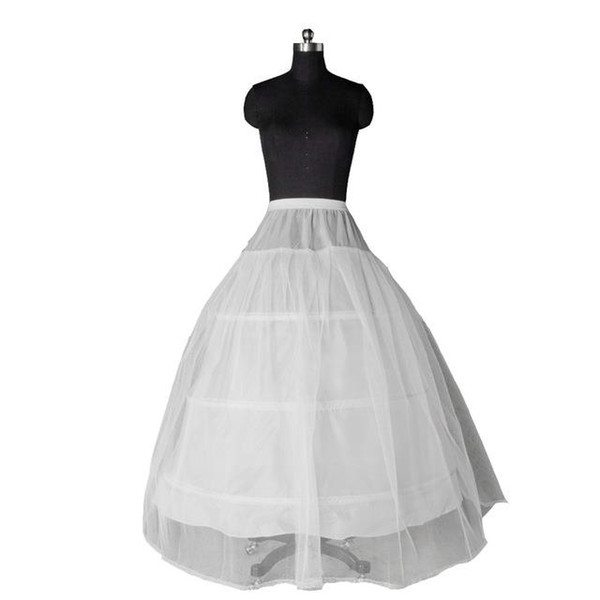 Venda quente 3 GANCHO vestido de Baile OSSO COMPLETO CRINOLINE PETTICOAT CASAMENTO SKIP SLIP Adulto NOVO Acessórios Para Noivas
