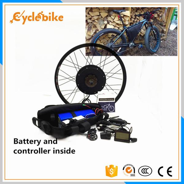 Ruota elettrica libera di shipping55km / h del corredo della bici 48v 1000w con il pacchetto della batteria al litio