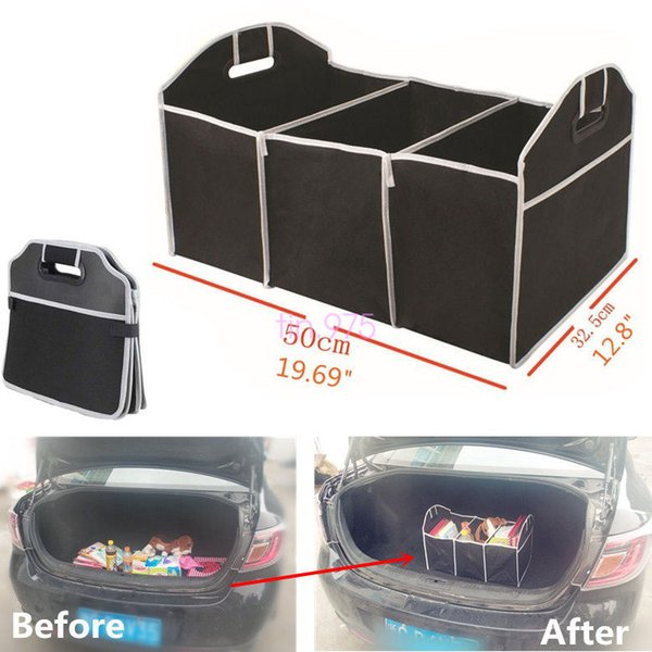 Storage Bags Foldable Car Organizer Boot Stuff Food Storage Bags Bag Case Box trunk organiser Automobile Stowing Tidying Interior Acc BBA352