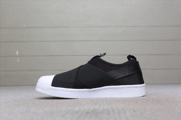 competitive price d5cb9 0dc8f Low Price High Quality SUPERSTAR SLIP ON W Black Warrior Cross Straps, Men  And Women Casual Jogging Shoes, Outdoor Shoes Tennis Shoes Ladies Shoes ...