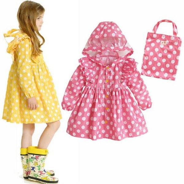 WINSTBROK Children Raincoat 2017 Impermeable Real Girls Rainwear Hiking Raincoat Child Fashion Rain Coat baby Rainsuit