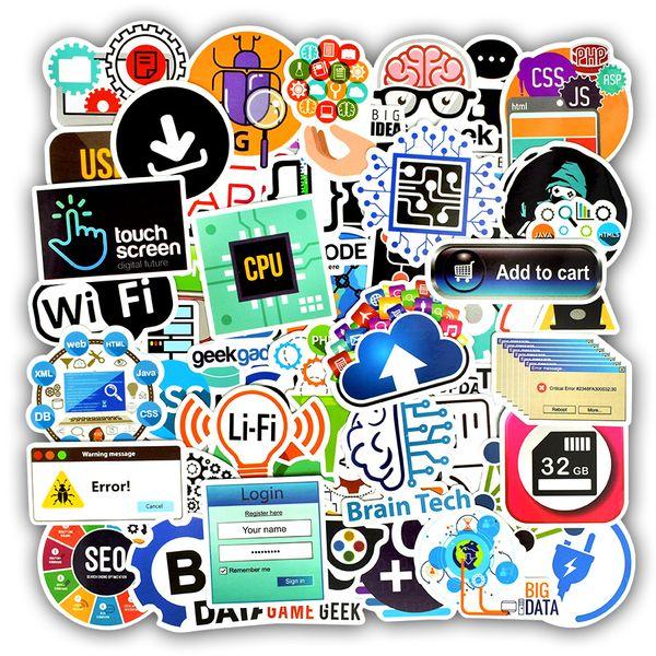 Waterproof Program Language Software Laptop Decals Stickers