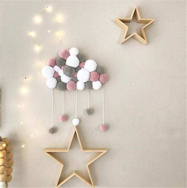 Chambre de bébé chambre murale ornements boule top Accueil mur décoratif bébé lit pendentif gland perle pendentif photo accessoires KHD01