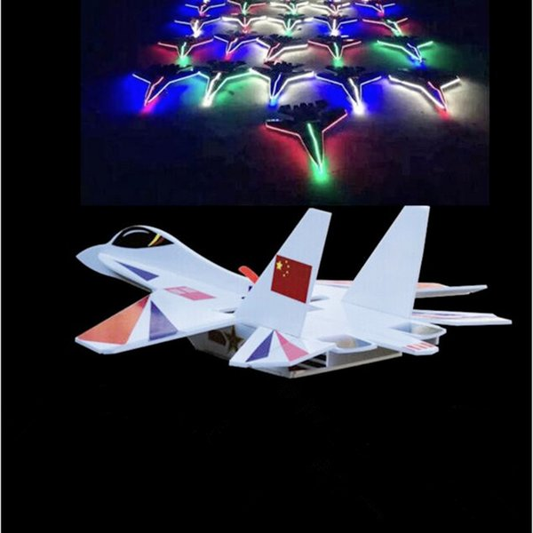 Led Rc Jet Plane Foam Shatter Resistant Model Rc Plane 6CH Remote Control Airplane High Speed Rc Glider Toys Drop Shipping