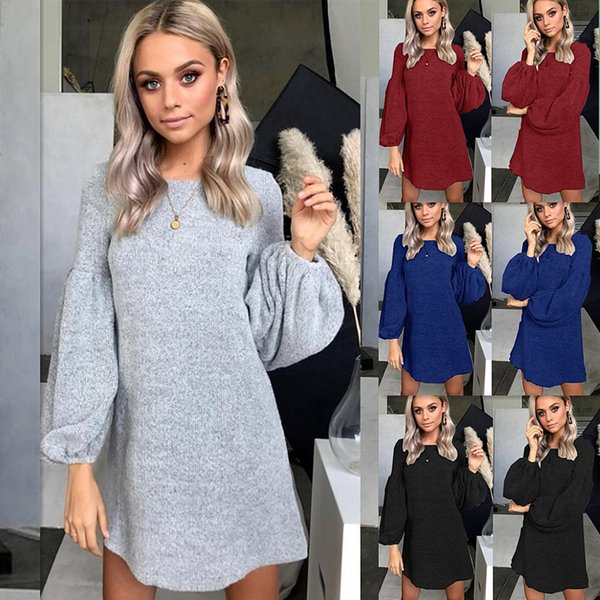 Goods In Stock ! Autumn And Winter New Pattern Knitting Sweater Dress Bottoming Blouses Women's Clothes A928