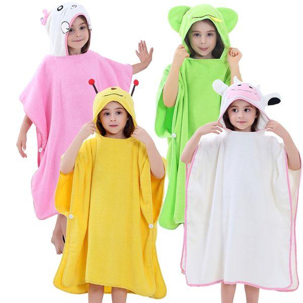 Kids Robes Cartoon Elephant Bee Frog Boys Girls Warm Cotton Bathrobes Animal Hooded Bath Robes Baby Boy Bathrobe Child Clothing AAA1370