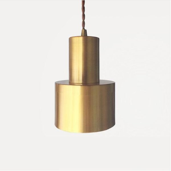 SVITZ Brass Metal Cross Pendant light Simple Retro Restaurant Bar Single Head Led Lamps Bed Mirror Front Bedroom Hanging Lamp
