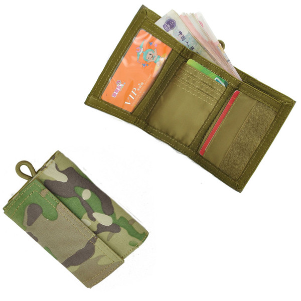 Tactical Tri-Fold Nylon wallet 1000D Nylon waterproof Casual police EDC ID holder purse for ID card&Credit Card holder Organizer