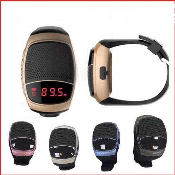B90 Mini Bluetooth Speaker Smart Watch Selfie Sport Watches with Alarm Music Player Screen Support TF FM USB