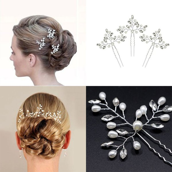 Horquillas para el pelo de la boda Alfileres para mujeres Decoración en el pelo Adornos Accesorios Joyería de la cabeza para el tocado de las trenzas