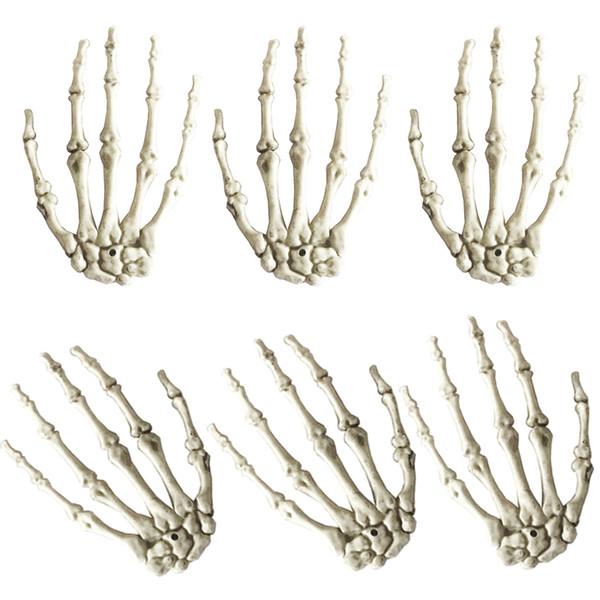3Paires Une maison hantée de mains de squelette en plastique lot pour décoration Halloween Accessoires Props